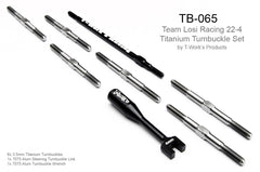 TB-065 Team Losi 22-4 Titanium Turnbuckle Set ( With 93mm Alum. Turnbuckle )