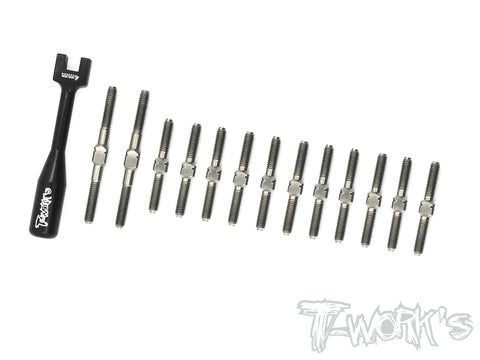 TB-135  64 Titanium Turnbuckle Set ( For Awesomatix A800X )