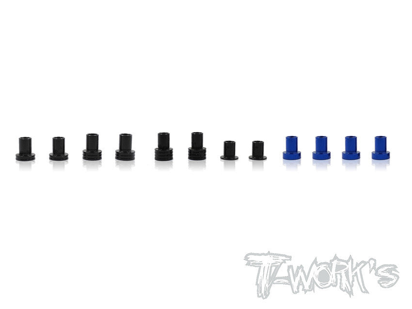 TE-146 7075-T6 Alum. Caster Hat Bushings Set ( For Team Associated RC10 B6/B6D/B64/B64D/B6.1 ) 2 each of 0deg,1deg,2deg,3deg.& 1.5deg 4pcs.