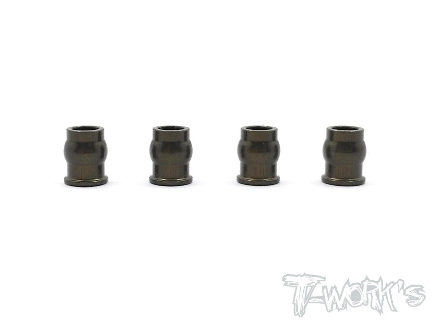 TE-147 7075-T6 Hard Coated Alum.A-Arm Bushing ( For Kyosho RB6 / ZX6 )  4pcs.
