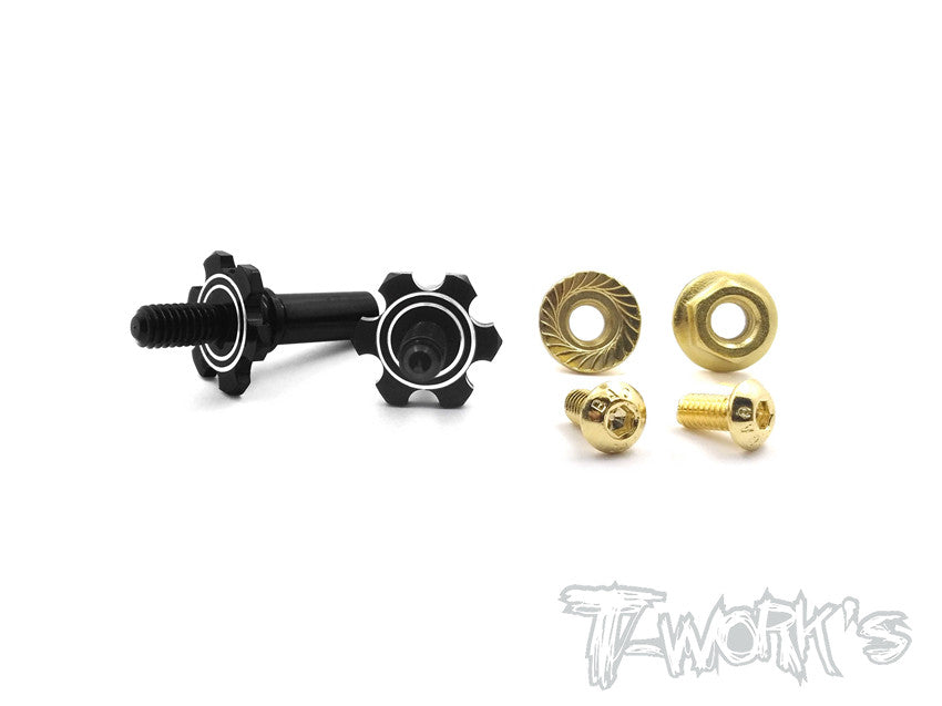 TE-153  7075-T6 Alum.Light Weight Front Axle ( Team Associated RC10 B6/B6D )