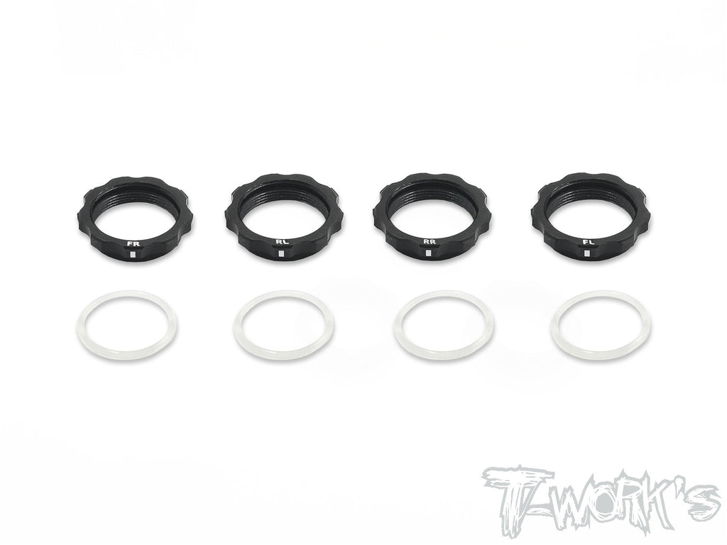 TE-161 7075-T6 Alum. Shock Adjustable Nut With Mark ( For Yokomo BD7'16/ BD8 ) 4pcs.