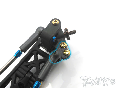 TE-166 Graphite Steering Block Arm Set ( For Team Associated RC10 B6/B6D )