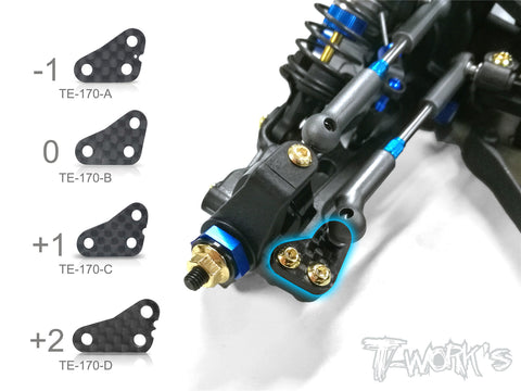 TE-170 Graphite Steering Block Arm Set For Team Associated RC10 B64/B64D