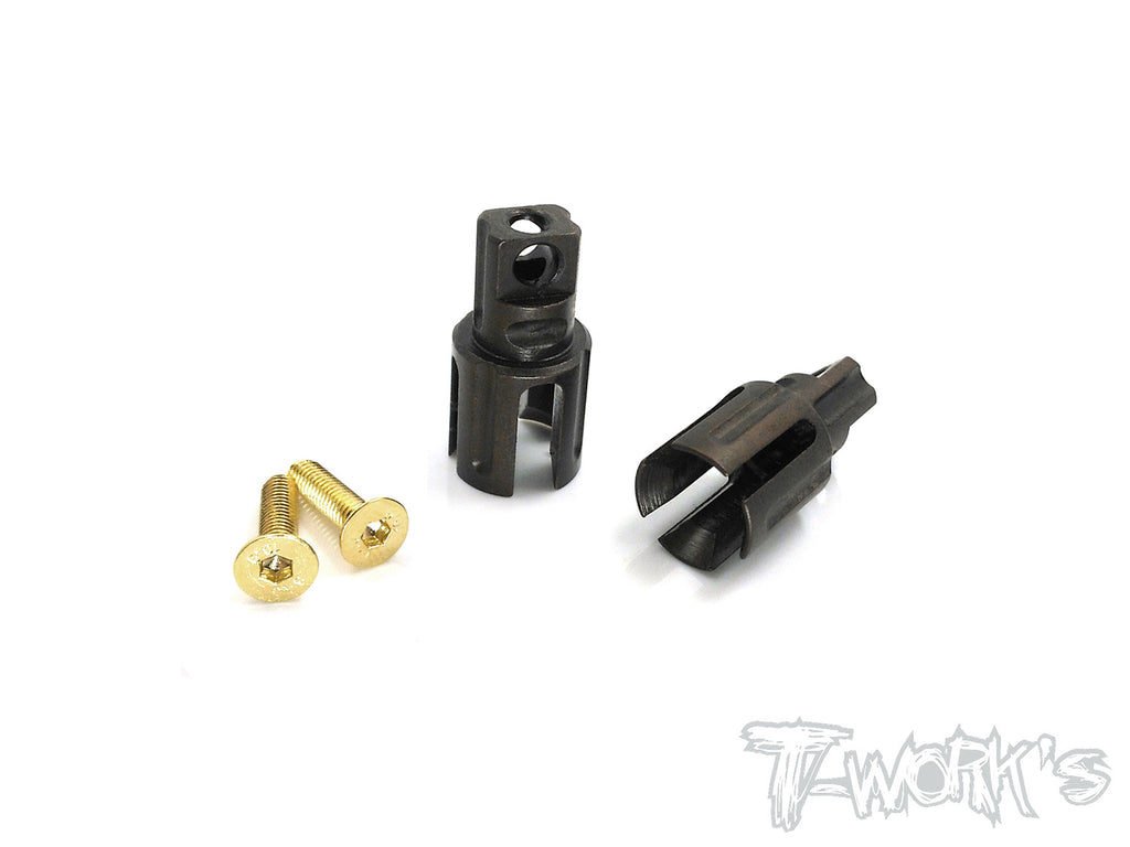 TE-197-M TWIN Trough Spring Steel Solid Driveshaft Adapters For Mugen MTC1