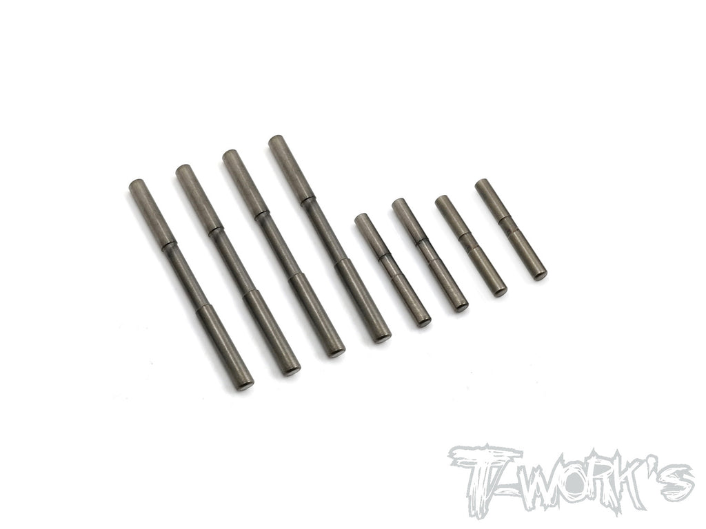 TE-199-T4 DLC coated Suspension Pin Set ( For Xray T4'16/T4'17'18/T4'19/T4'20/T4F/T4'21)
