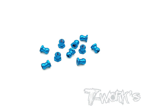 TE-229L-TB Aluminium 5mm Ball Nut ( Blue )  10pcs.