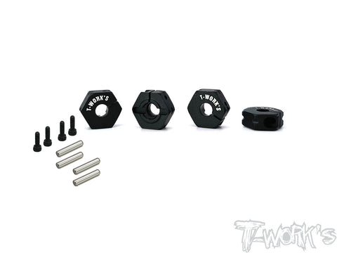 TE-TC01-M Clip 12mm Wheel Adapter ( For Tamiya TC-01 ) 4pcs.