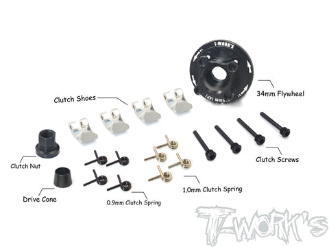 TG-062 34mm 4 shoes Clutch ( For 1/8 Buggy / Truggy / GT )