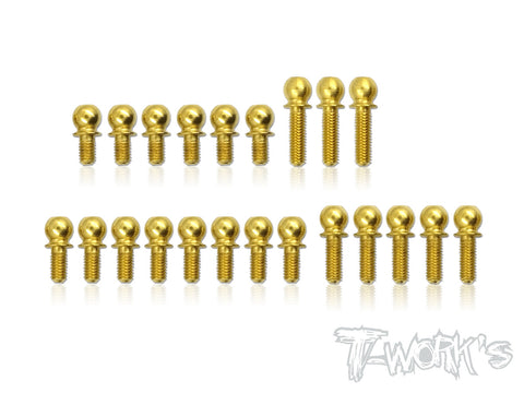 TN-001-T419 Titanium Nitride Ball End set ( For Xray T4'19 )