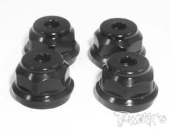 TO-001 Aluminum low body mounting cap,grooved for folding shock boots ( For XrayXB808 ) 4pcs.