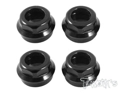 TO-003 Aluminum low body mounting cap,grooved for folding shock boots ( For Hotbodies D8/D8T/D812 ) 4pcs.