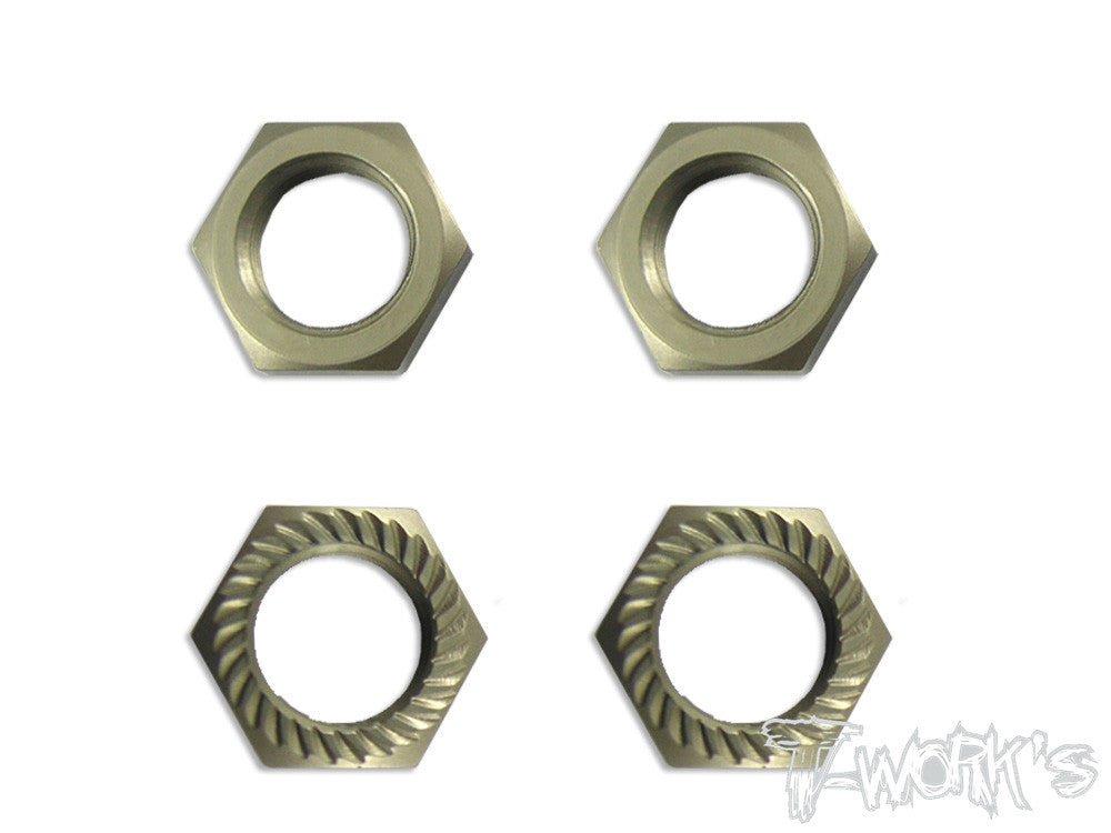 TO-049BR Self-Locking Wheel Nut P1 (Brown=  Titanium color )