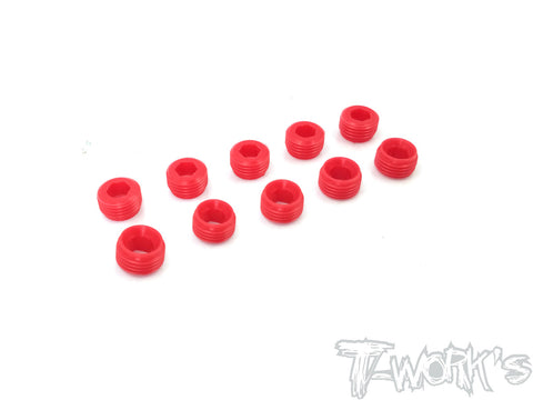 TO-134-M POM Front Upright Adjust Nut Spacers 10pcs.( For Mugen MTX/MRX)