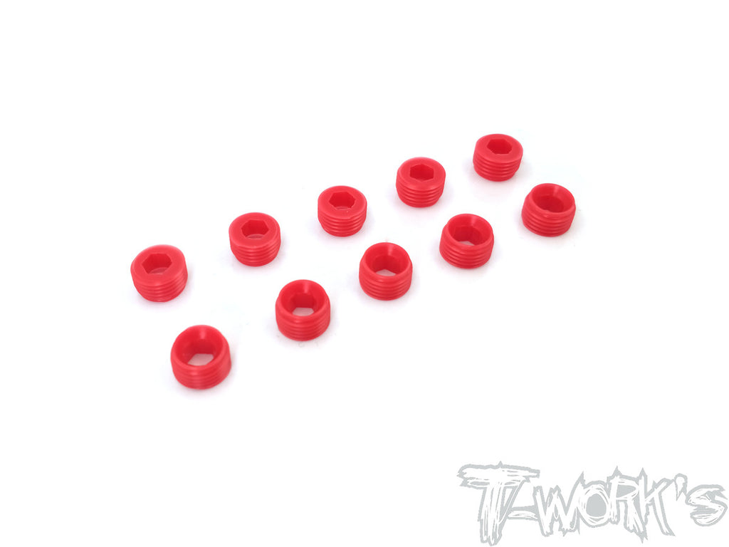 TO-134-S POM Front Upright Adjust Nut Spacers 10pcs.( For Serpent )