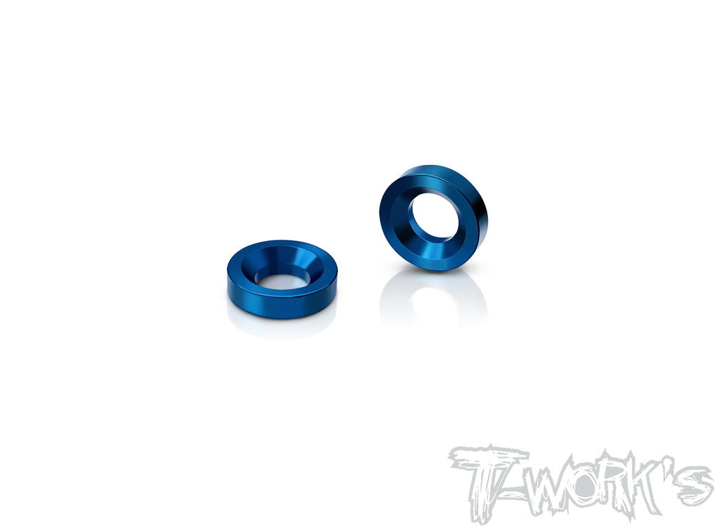 TO-182 7075-T6  3mm Front Track Width Adjust Spacer ( For Sworkz S350 )