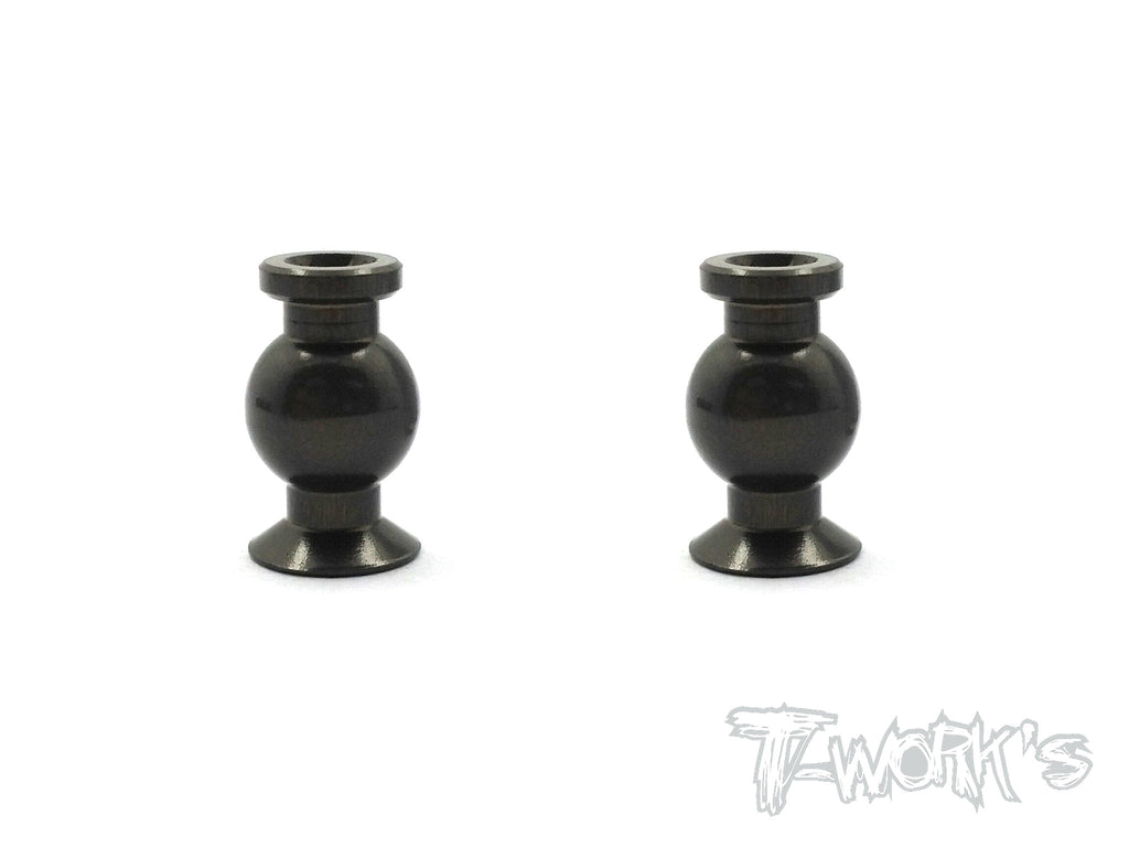 TO-200-D  7075-T6 Hard Coated Alum.7mm Mounting Ball With Hex Socket ( For Team Associated RC8 B3 ) 2pcs.