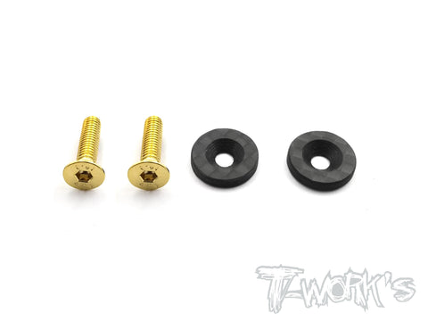 TO-208  Graphite Wing Washer ( For Kyosho MP9 TKI3/ TKI4 ) 2pcs.