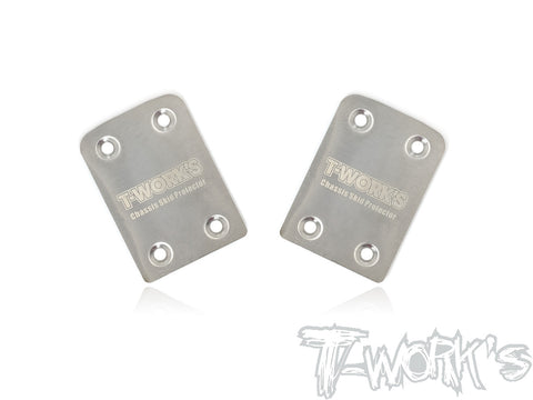 TO-220-410 Stainless Steel Rear Chassis Skid Protector ( Tekno EB410/ET410 ) 2pcs.