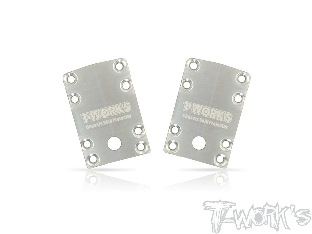 TO-220-B74 Stainless Steel Rear Chassis Skid Protector ( Team Associated RC10 B74 ) 2pcs.
