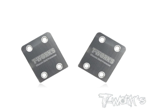 TLR 8ight // 8ight X Stainless Steel Rear Chassis Skid Protector 2pcs.