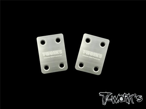 TO-220-MBX8 Stainless Steel Rear Chassis Skid Protector ( Mugen MBX-8 ) 2pcs.