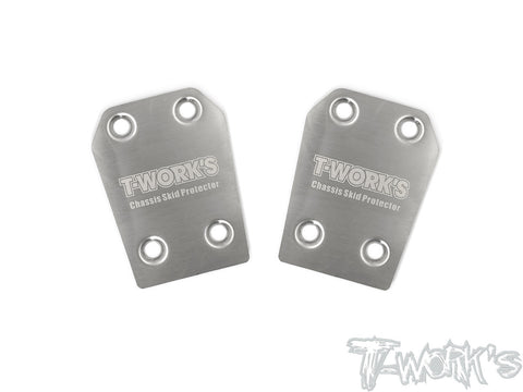 TO-220-RC8 Stainless Steel Rear Chassis Skid Protector ( Team Associated RC8 B3.1 ) 2pcs.