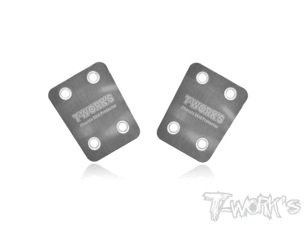 TO-220-S Stainless Steel Rear Chassis Skid Protector ( For S-Workz S350 EVO / S350 EVO II / S35-3 / S35-3E) 2pcs.