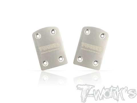 TO-220-XB4 Stainless Steel Rear Chassis Skid Protector ( Xray XB4 ) 2pcs.