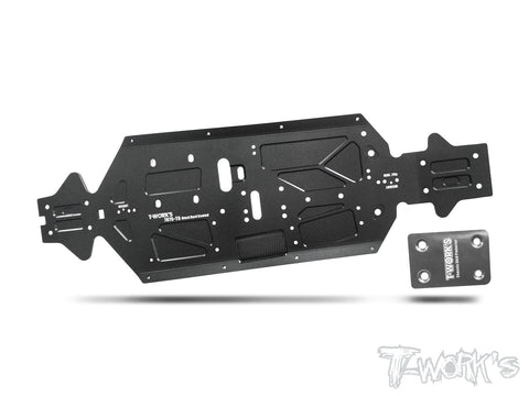TO-228-MBX8 7075-T6 Black Hard Coated Alum. CNC Light Weight Chassis ( For Mugen MBX8 )