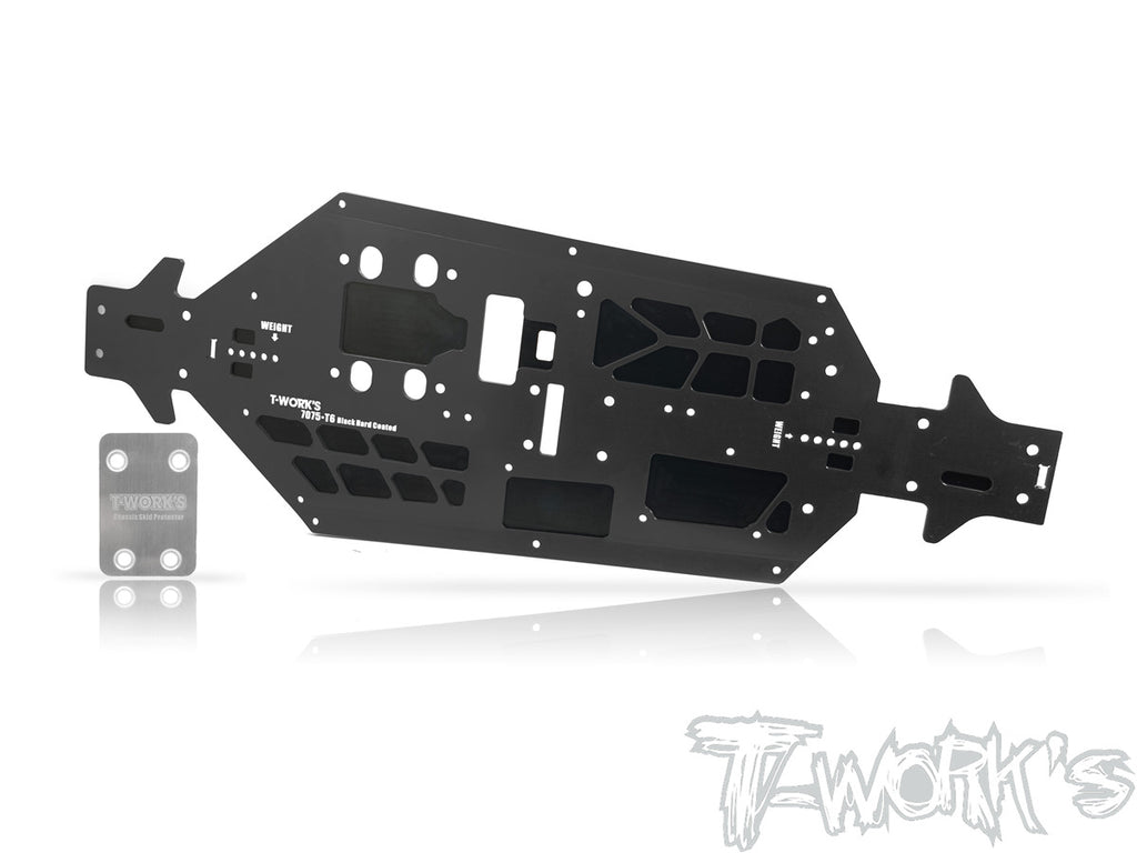 TO-228-MP10 7075-T6 Black Hard Coated Alum. CNC Light Weight Chassis ( For Kyosho MP10 )