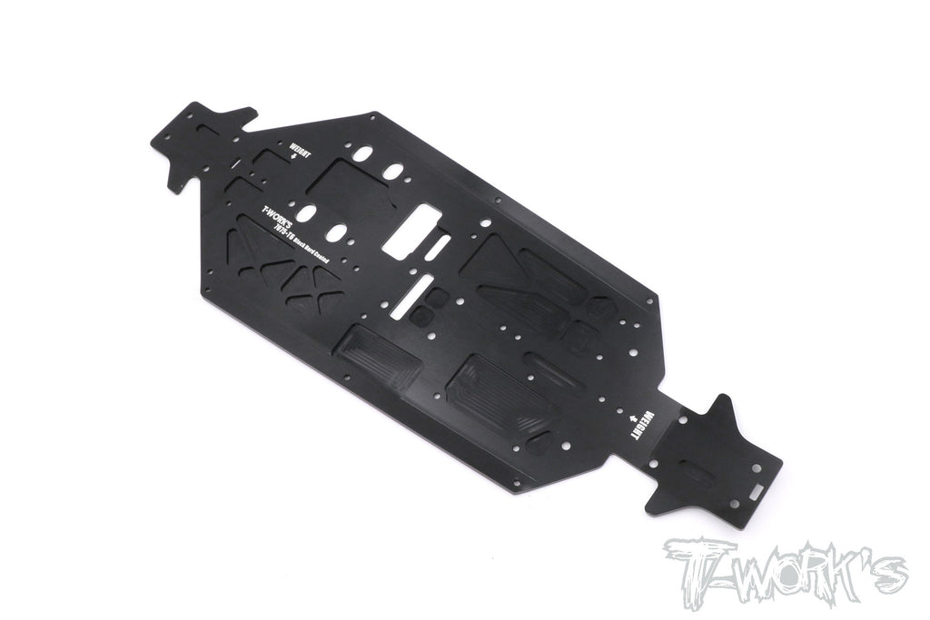 TO-228-TKI4 7075-T6 Black Hard Coated Alum. CNC Light Weight Chassis For Kyosho MP9 TKI4