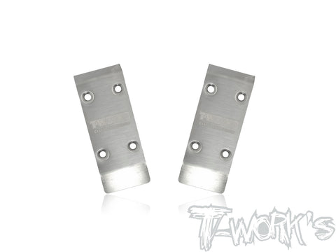 TO-235-410 Stainless Steel Front Chassis Skid Protector ( Tekno EB410/ET410 ) 2pcs.