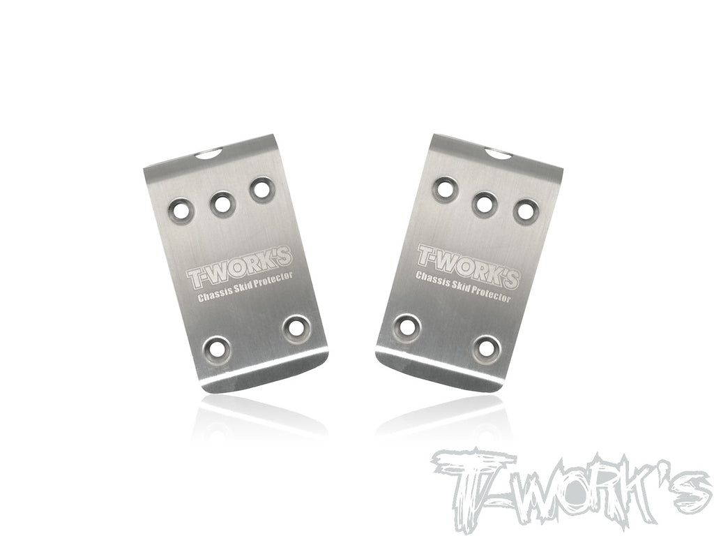 TO-235-B64 Stainless Steel Front Chassis Skid Protector ( For Team Associated RC10 B64/B64D ) 2pcs.