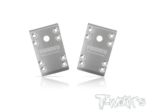 TO-235-B74 Stainless Steel Front Chassis Skid Protector ( Team Associated RC10 B74 ) 2pcs.