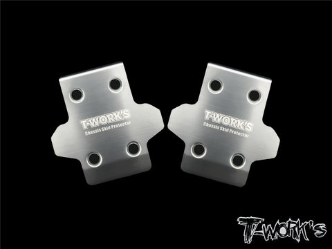 2pcs. T-Work/'s Stainless Steel Rear Chassis Skid Protector Hong Nor X3 EVO
