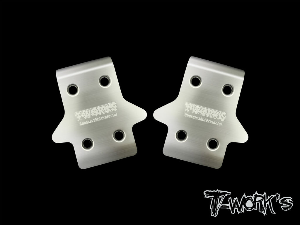TO-235-MBX8 Stainless Steel Front Chassis Skid Protector ( Mugen MBX8/Mugen MBX8 ECO ) 2pcs.