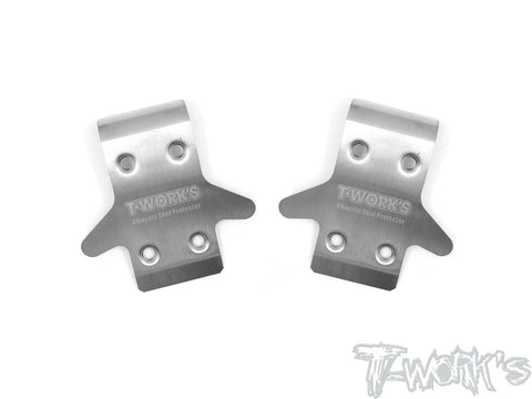 TO-235-RC8 Stainless Steel Front Chassis Skid Protector ( Team Associated RC8 B3.1 ) 2pcs.
