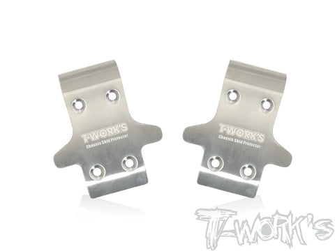 Stainless Steel Rear Chassis Skid Protector 2pcs. Tekno NB48.4 // EB48.4