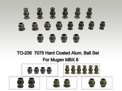 TO-236 7075 Hard Coated Alum. Ball Set ( For Mugen MBX 8 ) 18pcs