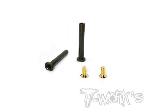 DLC coated Front Shock Shaft  54.7mm 2pcs. For Team Associated RC8 B3.1