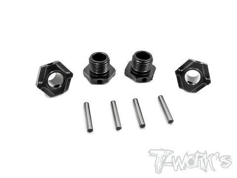 TO-245-M Black Hard Coated 7075-T6 Alum.Light Weight Wheel Hub  ( For Mugen MBX6/7/7R/MGT7/MBX8 ) 4pcs.