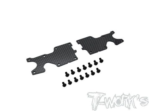 TO-246-35.4-R Graphite Rear A-arm Stiffeners 1mm/1.5mm  ( For Sworkz S35-4 )
