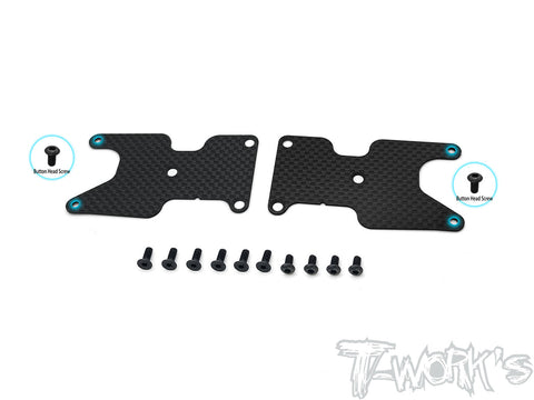 TO-246-B3.2-RV2 Graphite Rear A-arm Stiffeners 1mm/1.2mm Ver.2 ( For Team Associated RC8 B3.2 )