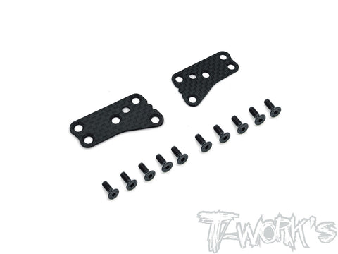 TO-246-B3.2-UF Graphite Front Upper A-arm Stiffeners 1mm/1.2mm ( Team Associated RC8 B3.2 )