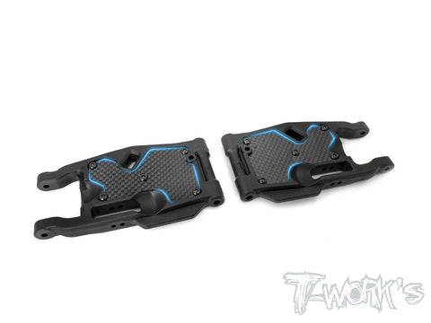 TO-246-MBX8-R Graphite Rear A-arm Stiffeners ( For Mugen MBX8 )