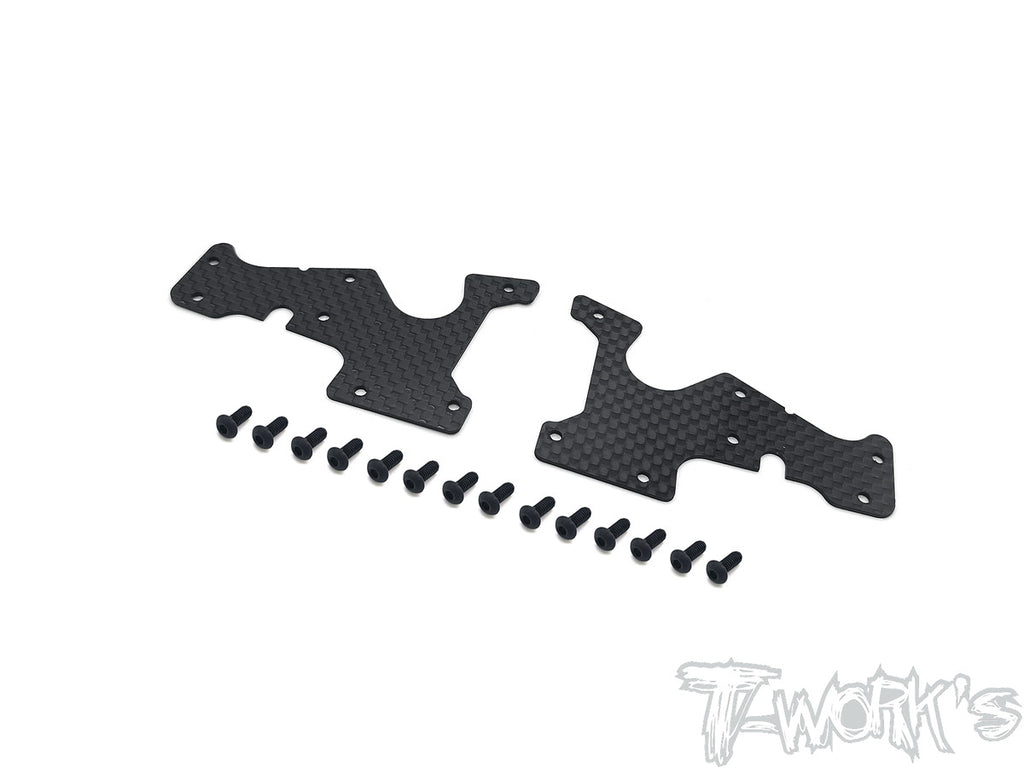 TO-246-SRX8-FL Graphite Front Lower A-arm Stiffeners 1mm/1.5mm  ( For Serpent SRX8/E/EVO GT/GT/GTE/ E-Pro/ GTE LWB/GT TQ/GTE WC  )