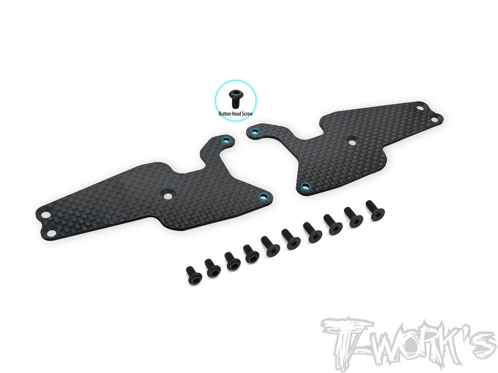 TO-246-T3.2-F1.5 Graphite Front A-arm Stiffeners 1.5mm ( For Team Associated RC8 T3.2 )