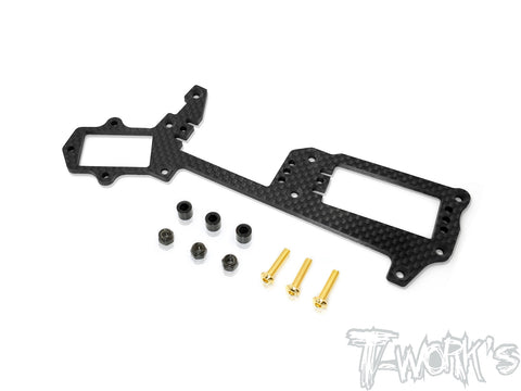 TO-256-R Graphite Radio Plate With Transponder Seat For Mugen MBX8/ MBX8 ECO