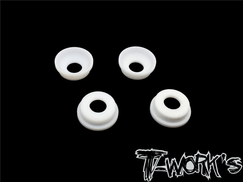 TO-268-RC8 Front Upright Adjust Nut Teflon Spacers ( For Team Associated RC8 B3.1 ) 4pcs.